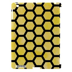 Hexagon2 Black Marble & Yellow Watercolor Apple Ipad 3/4 Hardshell Case (compatible With Smart Cover) by trendistuff