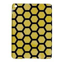 Hexagon2 Black Marble & Yellow Watercolor Ipad Air 2 Hardshell Cases by trendistuff