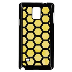 Hexagon2 Black Marble & Yellow Watercolor Samsung Galaxy Note 4 Case (black) by trendistuff