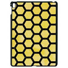 Hexagon2 Black Marble & Yellow Watercolor Apple Ipad Pro 9 7   Black Seamless Case by trendistuff