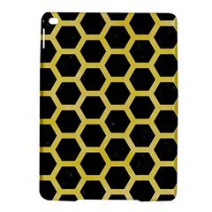 Hexagon2 Black Marble & Yellow Watercolor (r) Ipad Air 2 Hardshell Cases by trendistuff