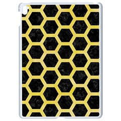 Hexagon2 Black Marble & Yellow Watercolor (r) Apple Ipad Pro 9 7   White Seamless Case by trendistuff