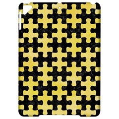 Puzzle1 Black Marble & Yellow Watercolor Apple Ipad Pro 9 7   Hardshell Case by trendistuff