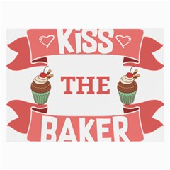 Kiss The Baker Large Glasses Cloth by BakersandArtists