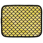SCALES1 BLACK MARBLE & YELLOW WATERCOLOR Netbook Case (XL)  Front