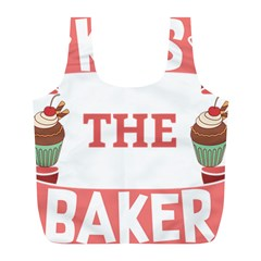 Kiss The Baker Full Print Recycle Bags (l)  by BakersandArtists