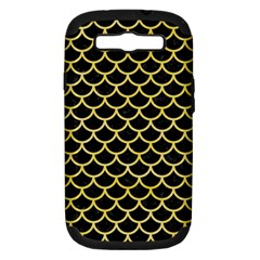 Scales1 Black Marble & Yellow Watercolor (r) Samsung Galaxy S Iii Hardshell Case (pc+silicone) by trendistuff