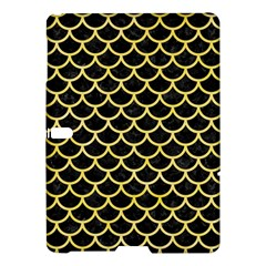 Scales1 Black Marble & Yellow Watercolor (r) Samsung Galaxy Tab S (10 5 ) Hardshell Case  by trendistuff