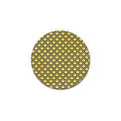 Scales2 Black Marble & Yellow Watercolor Golf Ball Marker (10 Pack)