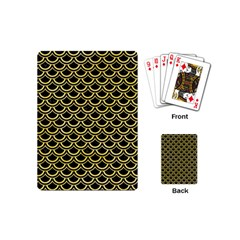 Scales2 Black Marble & Yellow Watercolor (r) Playing Cards (mini)  by trendistuff