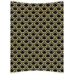 Scales2 Black Marble & Yellow Watercolor (r) Back Support Cushion by trendistuff