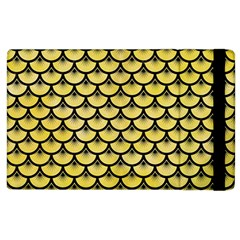 Scales3 Black Marble & Yellow Watercolor Apple Ipad 2 Flip Case by trendistuff