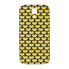 Scales3 Black Marble & Yellow Watercolor Samsung Galaxy S4 I9500/i9505  Hardshell Back Case