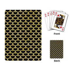 Scales3 Black Marble & Yellow Watercolor (r) Playing Card by trendistuff