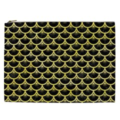 Scales3 Black Marble & Yellow Watercolor (r) Cosmetic Bag (xxl)  by trendistuff