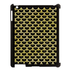 Scales3 Black Marble & Yellow Watercolor (r) Apple Ipad 3/4 Case (black) by trendistuff