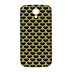 Scales3 Black Marble & Yellow Watercolor (r) Samsung Galaxy S4 I9500/i9505  Hardshell Back Case by trendistuff