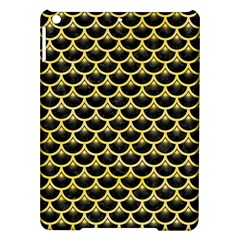 Scales3 Black Marble & Yellow Watercolor (r) Ipad Air Hardshell Cases