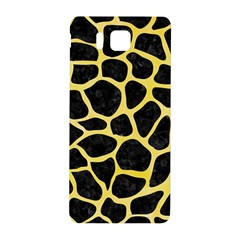 Skin1 Black Marble & Yellow Watercolor Samsung Galaxy Alpha Hardshell Back Case by trendistuff