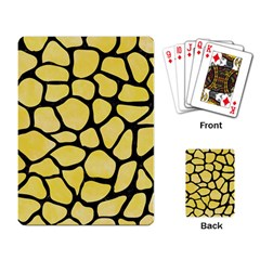 Skin1 Black Marble & Yellow Watercolor (r) Playing Card by trendistuff