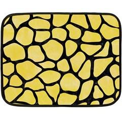 Skin1 Black Marble & Yellow Watercolor (r) Double Sided Fleece Blanket (mini)  by trendistuff