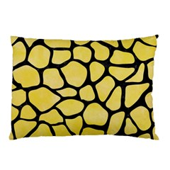 Skin1 Black Marble & Yellow Watercolor (r) Pillow Case (two Sides) by trendistuff