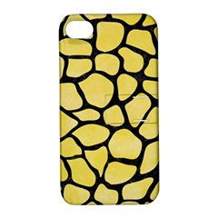 Skin1 Black Marble & Yellow Watercolor (r) Apple Iphone 4/4s Hardshell Case With Stand by trendistuff