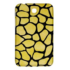 Skin1 Black Marble & Yellow Watercolor (r) Samsung Galaxy Tab 3 (7 ) P3200 Hardshell Case