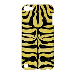 Skin2 Black Marble & Yellow Watercolor Apple Ipod Touch 5 Hardshell Case by trendistuff