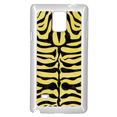 Skin2 Black Marble & Yellow Watercolor Samsung Galaxy Note 4 Case (white) by trendistuff