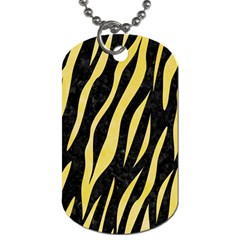 Skin3 Black Marble & Yellow Watercolor (r) Dog Tag (one Side) by trendistuff