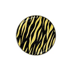 Skin3 Black Marble & Yellow Watercolor (r) Hat Clip Ball Marker (10 Pack) by trendistuff