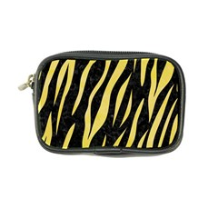 Skin3 Black Marble & Yellow Watercolor (r) Coin Purse