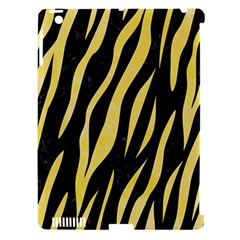 Skin3 Black Marble & Yellow Watercolor (r) Apple Ipad 3/4 Hardshell Case (compatible With Smart Cover) by trendistuff