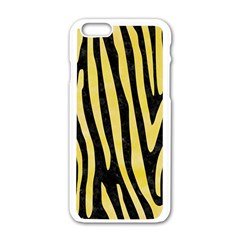 Skin4 Black Marble & Yellow Watercolor Apple Iphone 6/6s White Enamel Case