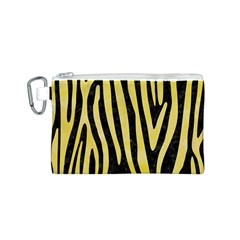 Skin4 Black Marble & Yellow Watercolor Canvas Cosmetic Bag (s) by trendistuff