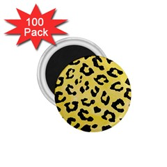 Skin5 Black Marble & Yellow Watercolor (r) 1 75  Magnets (100 Pack)  by trendistuff