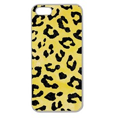 Skin5 Black Marble & Yellow Watercolor (r) Apple Seamless Iphone 5 Case (clear) by trendistuff