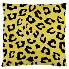 Skin5 Black Marble & Yellow Watercolor (r) Standard Flano Cushion Case (one Side) by trendistuff