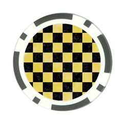 Square1 Black Marble & Yellow Watercolor Poker Chip Card Guard (10 Pack) by trendistuff