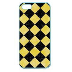 Square2 Black Marble & Yellow Watercolor Apple Seamless Iphone 5 Case (color)