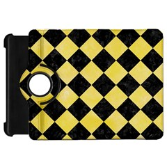 Square2 Black Marble & Yellow Watercolor Kindle Fire Hd 7  by trendistuff