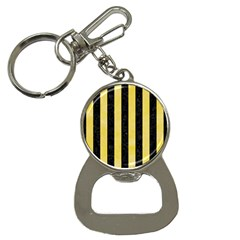 Stripes1 Black Marble & Yellow Watercolor Button Necklaces by trendistuff