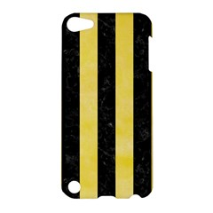 Stripes1 Black Marble & Yellow Watercolor Apple Ipod Touch 5 Hardshell Case by trendistuff