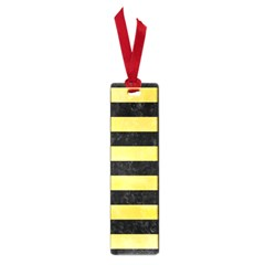 Stripes2 Black Marble & Yellow Watercolor Small Book Marks by trendistuff