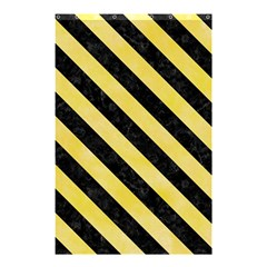 Stripes3 Black Marble & Yellow Watercolor Shower Curtain 48  X 72  (small)  by trendistuff