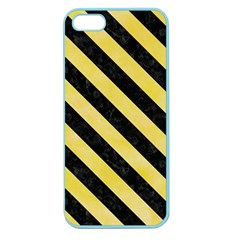Stripes3 Black Marble & Yellow Watercolor Apple Seamless Iphone 5 Case (color)