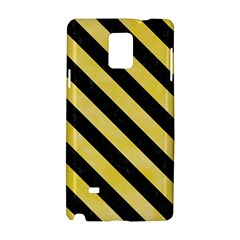 Stripes3 Black Marble & Yellow Watercolor Samsung Galaxy Note 4 Hardshell Case by trendistuff