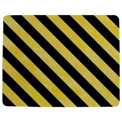 Stripes3 Black Marble & Yellow Watercolor Jigsaw Puzzle Photo Stand (rectangular) by trendistuff