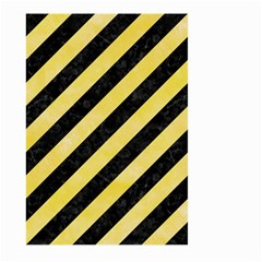 Stripes3 Black Marble & Yellow Watercolor (r) Large Garden Flag (two Sides) by trendistuff